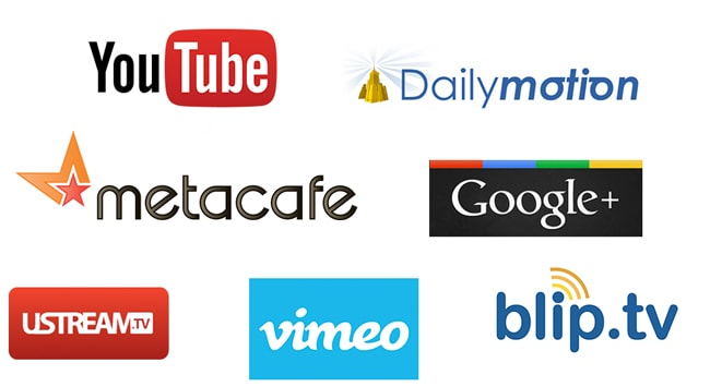 video-sharing sites available