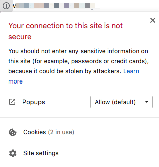 non-secure sites on google chrome