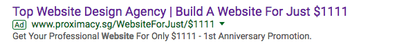 title and description headline